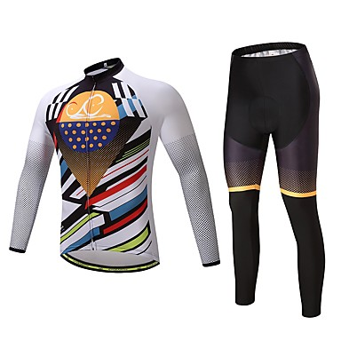 Long Sleeves Cycling Jersey with Tights Bike Clothing Suits, Thermal / Warm Polyester Fleece Lycra Silicon