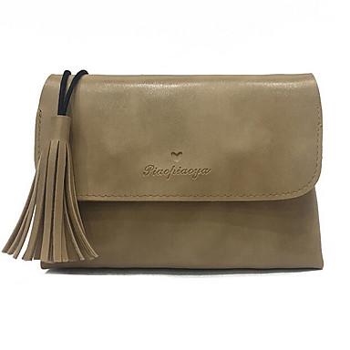 Women Shoulder Bag PU All Seasons Casual Outdoor Round Zipper Green Brown Wine