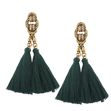 Women's Tassel Drop Earrings - Tassel, Vintage, Bohemian Blue / Wine / Depression Green For Wedding / Anniversary / Housewarming