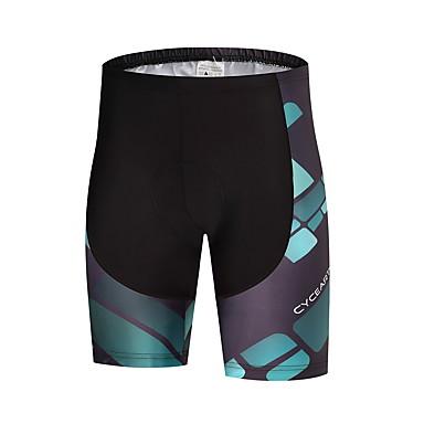 Homens Bermudas Acolchoadas Para Ciclismo Moto Shorts / Calças Secagem Rápida Poliéster, Lycra Roupa de Ciclismo