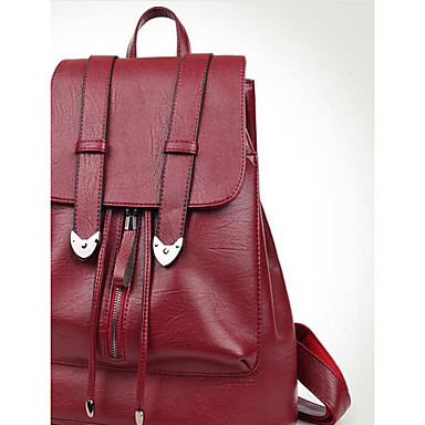 Women Bags All Seasons PU Backpack for Casual Blue Black Red
