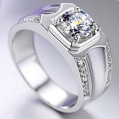 Herre Syntetisk Diamant Grunnleggende Legering Stjerne Formet Smykker Til Bryllup