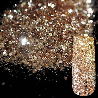 Sequins / Powder / Glitter Powder Classic / Shiny / Glamour Nail Art Design Daily