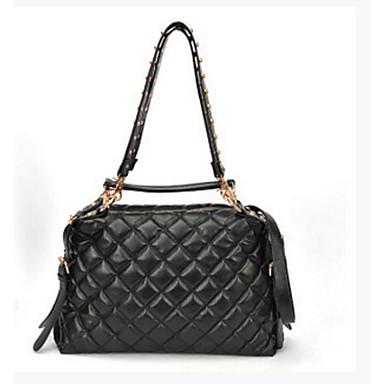 Women Travel Bag PU All Seasons Casual Outdoor Circle Zipper Black