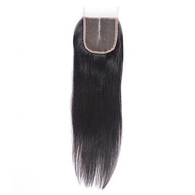 8-20inch bleket knuter 4x4 blonder lukning rett virgin brasiliansk hår midt del lukking