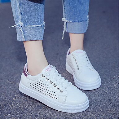 Women's Sneaker Comfort Spring Breathable Mesh PU Casual White Flat