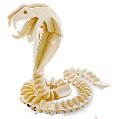 3D-puslespill Puslespill Metallpuslespill Tremodeller Modellsett Dyr 3D GDS Tre Naturlig Tre Barne Voksne Gutt Unisex Gave
