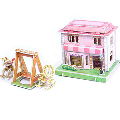 3D Puzzles Jigsaw Puzzle Paper Model Model Building Kit House Architecture 3D DIY High Quality Paper Classic Boys' Unisex Gift