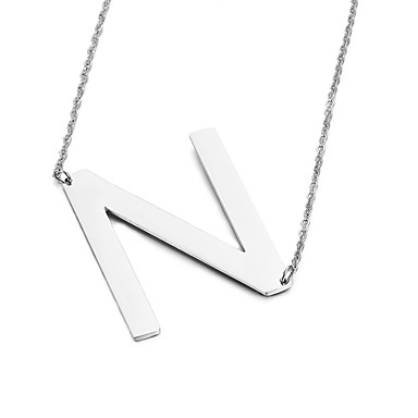 Men's Women's Pendant Necklaces Alphabet Shape Stainless Steel Friendship Fashion Initial Jewelry Jewelry For Party Birthday Gift Daily