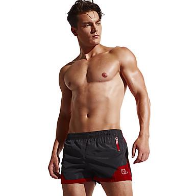 Homens Shorts de Corrida Respirável Confortável Shorts Calças Exercício e Atividade Física Praia Corrida Terylene Preto Azul marinho Azul