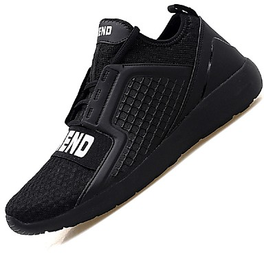 Men's Sneakers Light Soles Summer Fall Net Casual Outdoor Office & Career Side-Draped Low Heel White Black Dark Red Under 1in