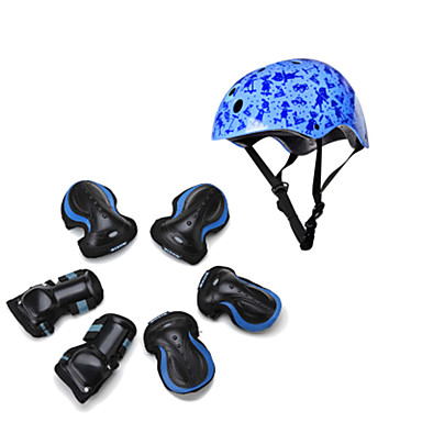 Kids Protective Gear Knee Pads + Elbow Pads + Wrist Pads Skate Helmet for Cycling Skateboarding Inline Skates Roller Skates Eases pain