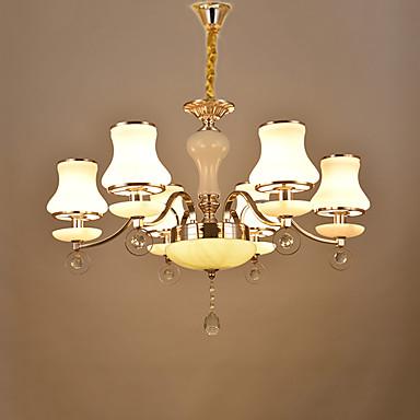 Lustres Luz Ambiente - Cristal, Chique & Moderno, 220V, Branco Quente, Lâmpada Não Incluída