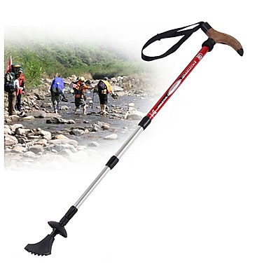 4 Ausschnitte Trekking Stöcke / Nordic Walking Stöcke / Multifunktionelle Wanderstöcke 110cm (43 Zoll) Dämpfung / Verstellbare Länge /