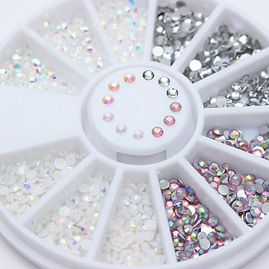 1 pcs Rhinestones   Nail Jewelry Nail Art Design Sparkle   Shine   Mixed  Color   Jelly cf87127ec3ed