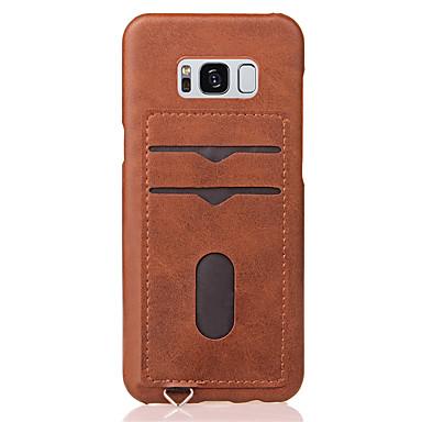 Capinha Para Samsung Galaxy S8 Plus S8 Porta-Cartão Capa traseira Côr Sólida Rígida PC para S8 Plus S8 S7 edge S7