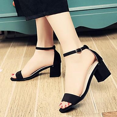 Naiset Kengät PU Kesä Comfort Sandaalit Käyttötarkoitus Kausaliteetti Musta Harmaa