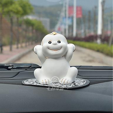 DIY autóipari díszek kreatív dekoráció kis majom baba aranyos dekoráció autó medál&Orname kerámia