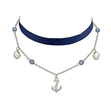 للمرأة قلادات ضيقة - أساسي, أسلوب بسيط, موضة البيج, أزرق فاتح قلادة مجوهرات من أجل يوميا, فضفاض, مواعدة