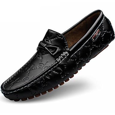 Damen Loafers & Slip-Ons Walking Komfort Stoff Sommer Herbst Normal Schnürsenkel Flacher Absatz Weiß Schwarz Blau Flach