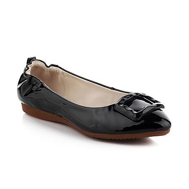 Damen Schuhe Leder Frühling Sommer Komfort Leuchtende Sohlen Loafers & Slip-Ons Flacher Absatz Spitze Zehe Schnalle für Normal Büro &