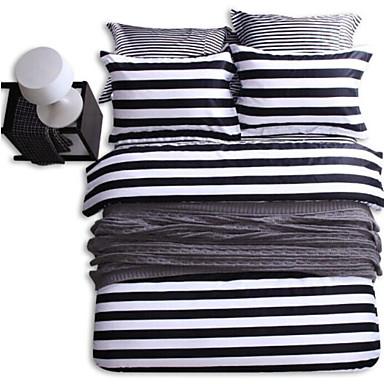 Geometrisch 4 Stück 4-teilig (1 Bettbezug, 1 Bettlaken, 2 Kissenbezüge)