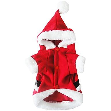 Hund Kostüme Hundekleidung Cosplay Weihnachten Rot