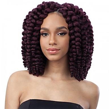 Braiding Hair Curly / Bouncy Curl Curly Braids / Hair Accessory / Human Hair Extensions 100% kanekalon hair / Kanekalon 10 roots / pack Hair Braids Ombre Crochet Braids / 100% kanekalon hair Daily