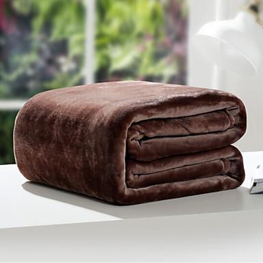 Korallenfleece Massiv Gemischte Polyester/Baumwolle Decken