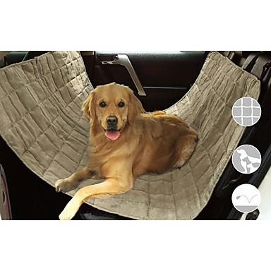 Hund Auto Sitzbezug Haustiere Matten & Polster Wasserdicht Tragbar Klappbar Schwarz Beige Grau Für Haustiere