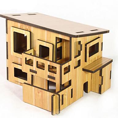 3D építőjátékok Fejtörő DIY Fa Gyermek Uniszex Ajándék