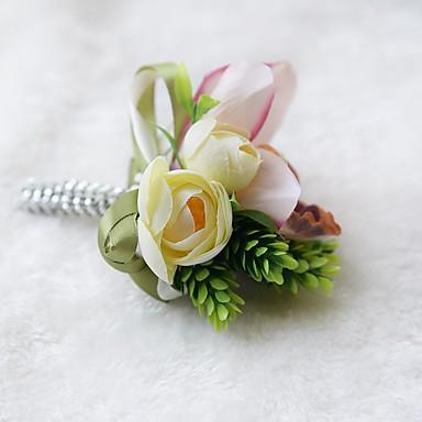 Esküvői virágok Virágkitűzők Esküvő Organza Szatén 3,94