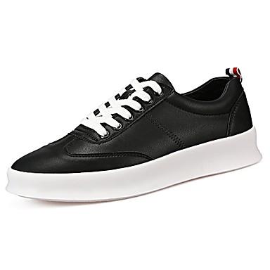 Férfi cipő Szintetikus Mikrorost PU Tavasz Ősz Kényelmes Tornacipők Fűző mert Hétköznapi Fehér Fekete Piros
