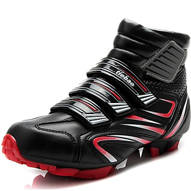 Men's Net / Carbon Fiber Fall / Winter Comfort Athletic Shoes Cycling Shoes Red / Green