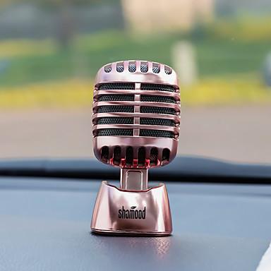 Diyautomotive díszek autó parfüm díszek divat személyiség mikrofon díszítő&Fém díszek