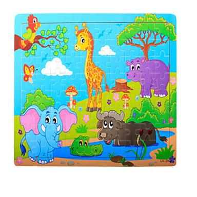 Fejtörő Fából készült építőjátékok Fejlesztő játék Elefánt Krokodilbőr utánzat Gyümölcs Other Fa Anime Rajzfilmfigura Uniszex Ajándék