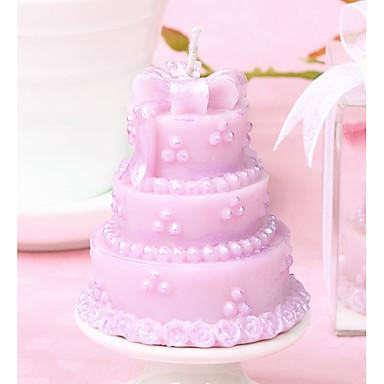 esküvő kedveli a rózsaszín tortagyertyát - 5 x 5 x 5,5 cm - a beter gifts® életmód