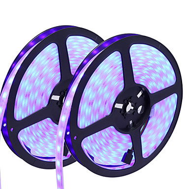HKV 10m Flexible LED Light Strips 300 LEDs 5050 SMD RGB Cuttable / Dimmable / Waterproof 12 V / Linkable / Self-adhesive / Color-Changing / IP67