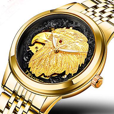 Недорогие Армейские часы-Муж. Спортивные часы Армейские часы Наручные часы Японский С автоподзаводом Нержавеющая сталь Золотистый 30 m Защита от влаги Творчество Cool Аналоговый