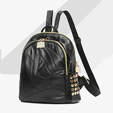 Women's Bags PU Backpack for Event/Party Casual Formal Office & Career Outdoor All Seasons Black