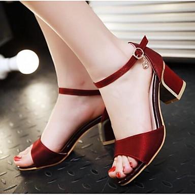 Damen Schuhe PU Sommer Komfort Sandalen Für Normal Schwarz Beige Rot