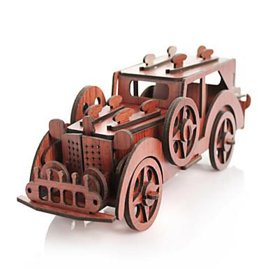 3D építőjátékok Fejtörő Wood Model Autó Fa Gyermek Uniszex Ajándék