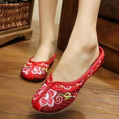Damen Schuhe Stoff Sommer Komfort Slippers & Flip-Flops für Normal Rot