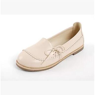 Damen Schuhe PU Sommer Komfort Flache Schuhe Für Normal Braun Mandelfarben