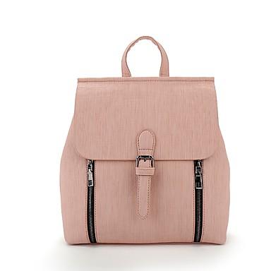 Női Táskák PU hátizsák mert Szabadtéri Fekete / Arcpír rózsaszín / Mandula