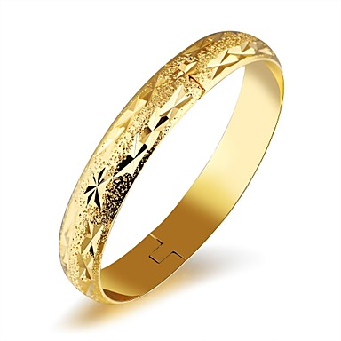 Női Kocka cirkónia Bilincs karkötők - Cirkonium, Arannyal bevont, Rózsa arany bevonattal Luxus, Alap, Divat Karkötők Arany Kompatibilitás
