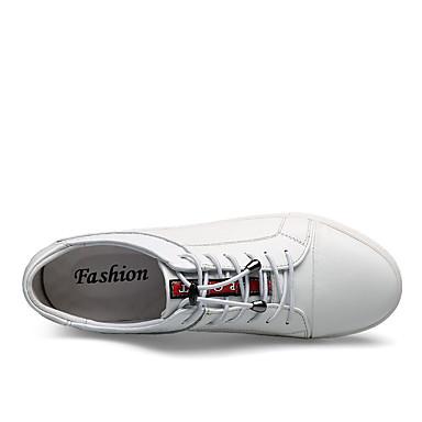 rond Noir Unisexe Cuir Légères Hiver Basket Automne A Nappa Plat Bout Cuir Chaussures Blanc Semelles 06176984 Carreaux Lacet Talon TpxqwT7Rr