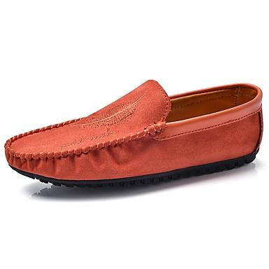 Férfi cipő Szövet Tavasz Ősz Mokaszin Papucsok & Balerinacipők mert Hétköznapi Fekete Narancssárga Sötétvörös Khakizöld