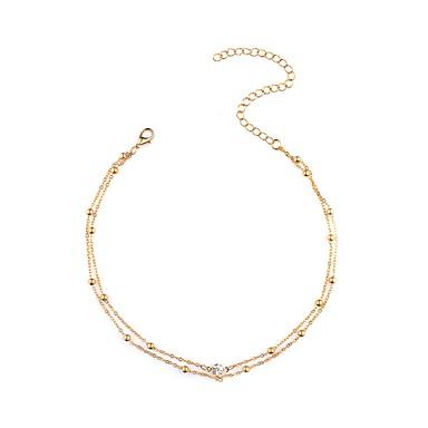 Női Strassz Hamis gyémánt Rövid nyakláncok  -  Személyre szabott Divat Arany Ezüst Nyakláncok Kompatibilitás Napi Hétköznapi Randi