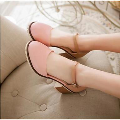 Damen Schuhe PU Sommer Komfort Sandalen Für Normal Blau Rosa